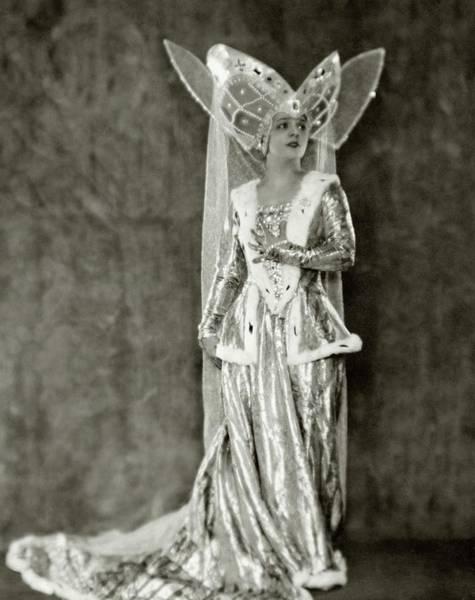 1922 Photograph - Irene Bordoni In Costume As Princess Katherine by Nickolas Muray