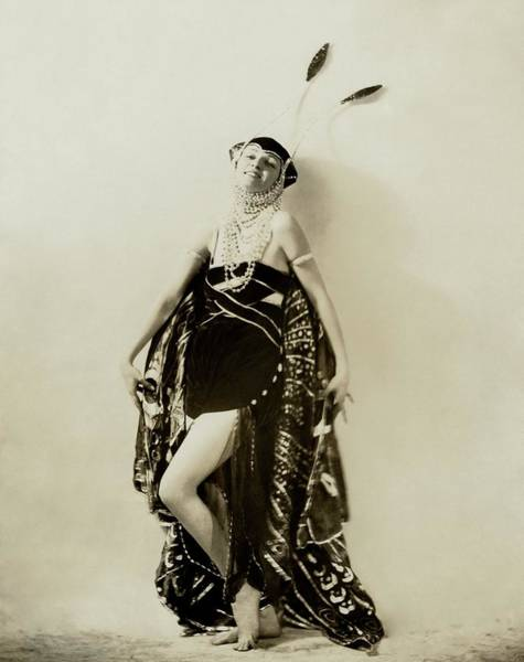 1922 Photograph - Irene Castle Wearing A Butterfly Costume by Ira L. Hill