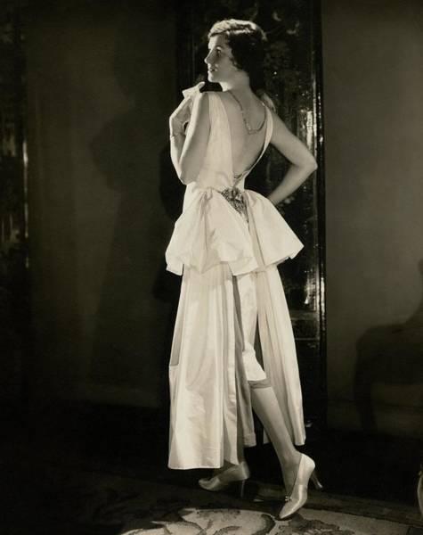 Photograph - Irene Castle Wearing A Satin Dress by Edward Steichen
