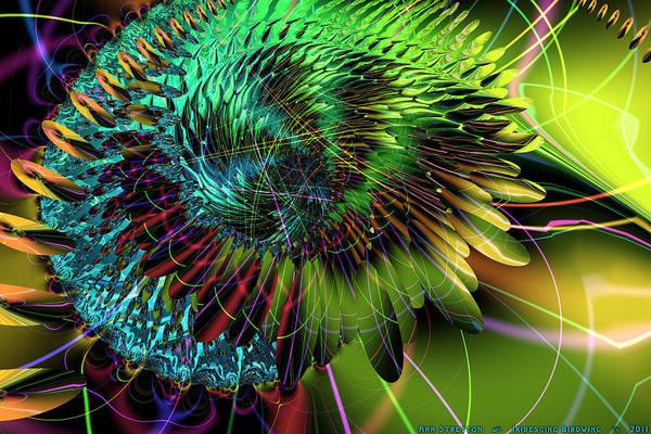 Digital Art - Iridescing Birdwing  by Ann Stretton