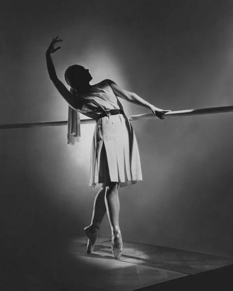 Photograph - Irina Baronova At The Barre by Horst P. Horst