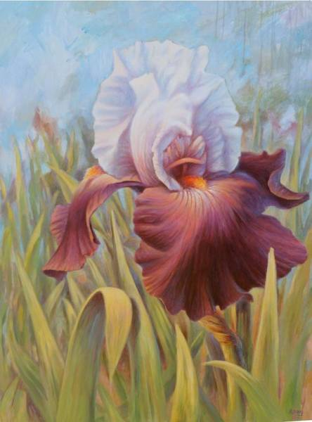 Painting - Iris 2 by Hans Droog