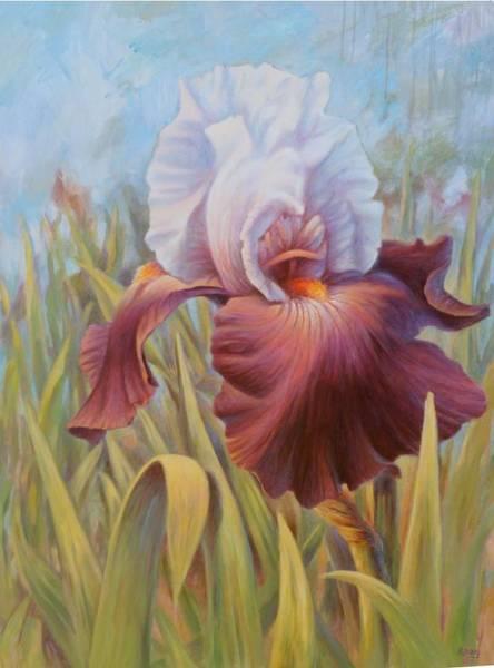 Hans Droog Wall Art - Painting - Iris 2 by Hans Droog