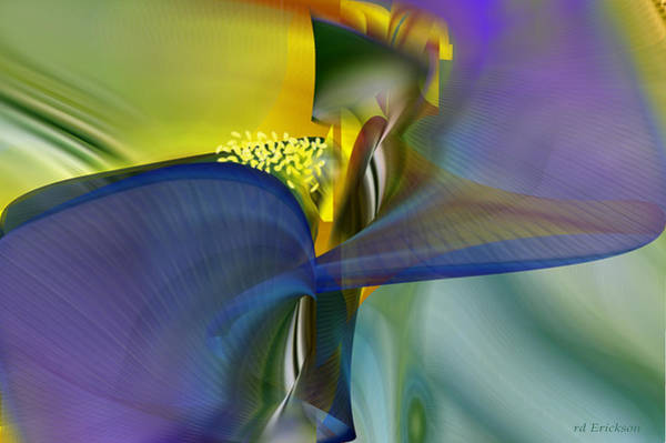 Digital Art - Iris - Abstract Art by rd Erickson