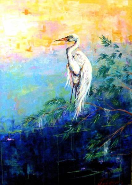 Iris Art Print by Dawn Gray Moraga