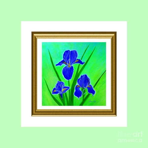 Painting - Iris Flowers. Holiday Collection by Oksana Semenchenko