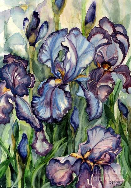 Wall Art - Painting - Iris Garden by Barbara Jewell