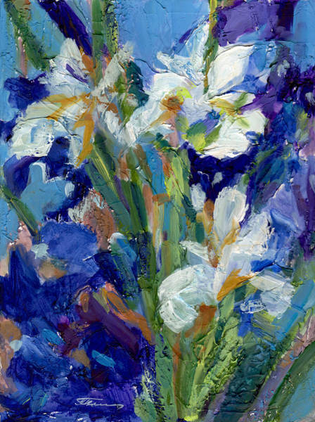 Painting - May Flowers - Irises by Tanya Filichkin