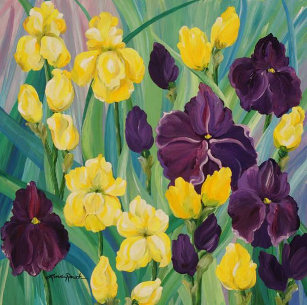 Painting - Iris Gardens by Linda Rauch