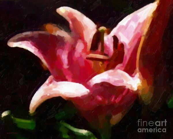 Painting - Iris by Gerlinde Keating - Galleria GK Keating Associates Inc