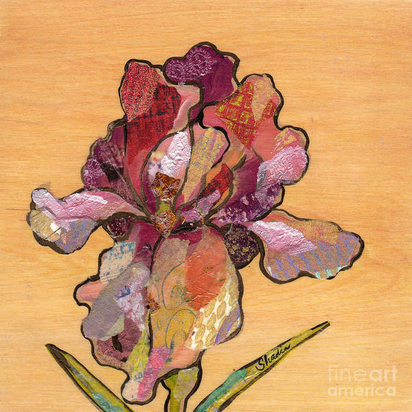 Lovely Wall Art - Painting - Iris II - Series II by Shadia Derbyshire