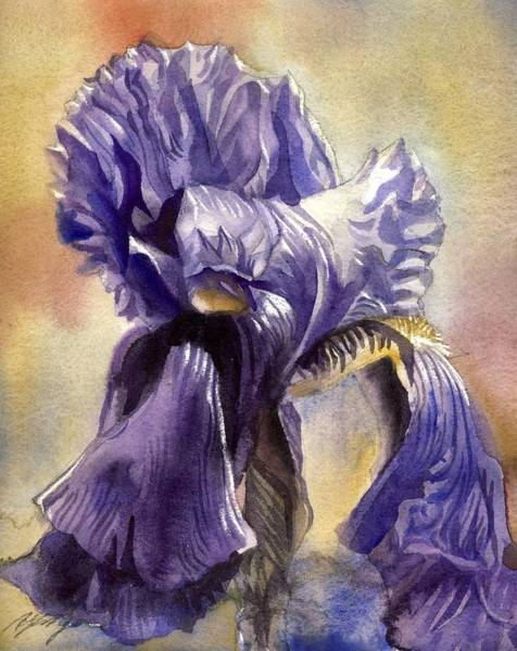 Painting - Iris In Blue by Alfred Ng