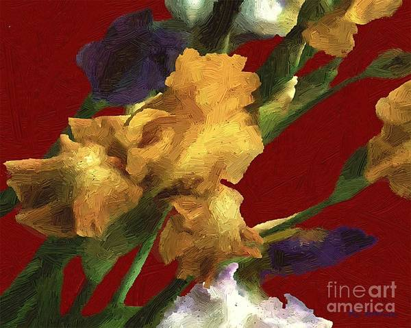 Painting - Iris In The Rough by RC DeWinter