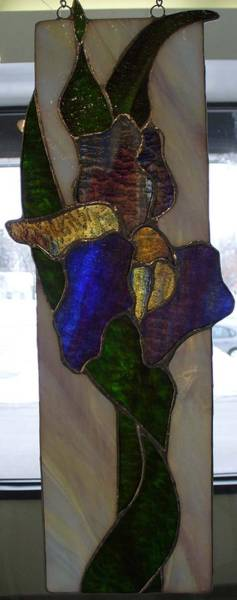 Glass Art - Iris by Karin Thue