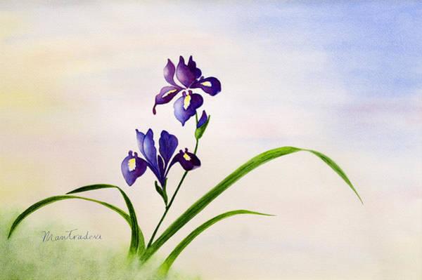 Paramhansa Yogananda Painting - Iris On Hill by Mantradevi LoCicero