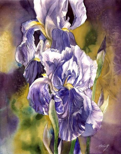 Painting - Iris With Yellow by Alfred Ng