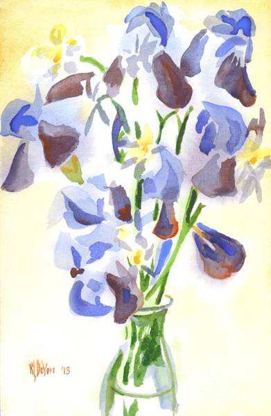 Painting - Irises Aglow by Kip DeVore