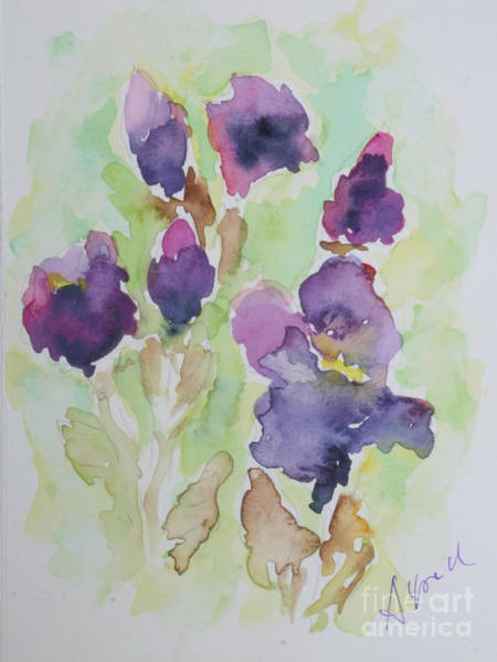 Wall Art - Painting - Irises by Almo M