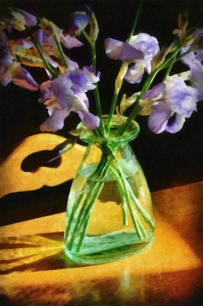 Wall Art - Photograph - Irises In Morning Light by Michelle Calkins