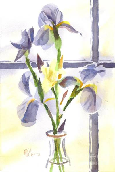 Painting - Irises In The Window II by Kip DeVore