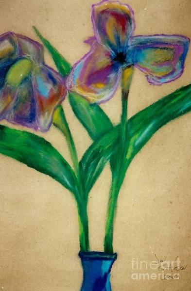 Drawing - Irises  by Jon Kittleson