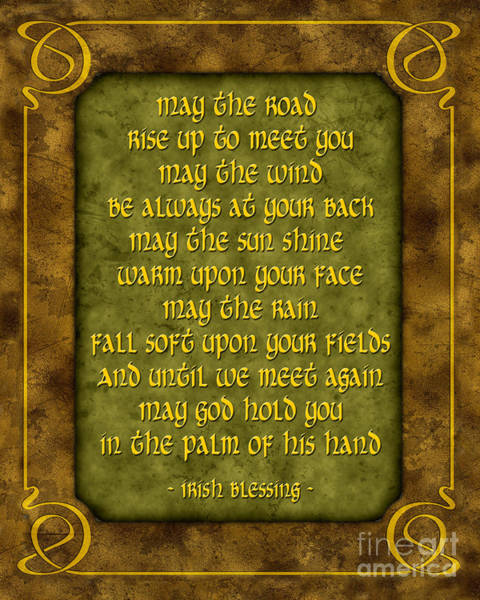 Wall Art - Digital Art - Irish Blessing by Ginny Gaura