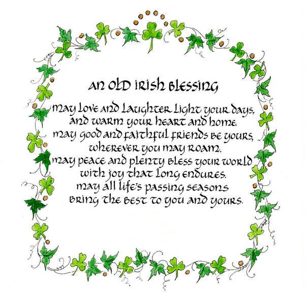 Irish Mixed Media - Irish Blessing by Jan Boyd