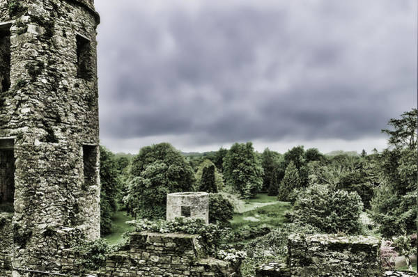 Photograph - Irish Castle Rolling Clouds by Sharon Popek