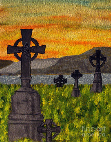 Painting - Irish Cemetery-painting by Megan Dirsa-DuBois