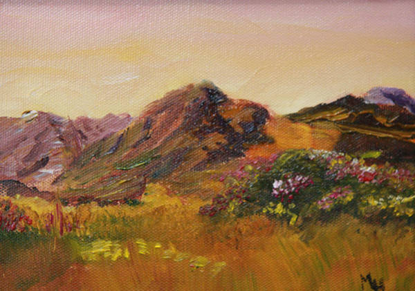 Painting - Irish Connemara Countryside by Michael Helfen
