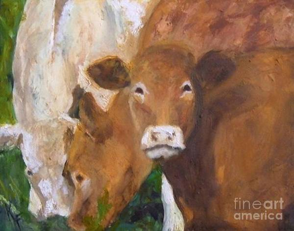 11x14 Painting - Irish Cows by Kathleen Farmer
