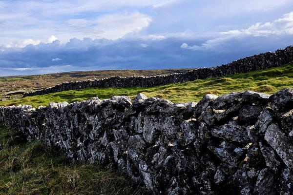 Photograph - Irish Dry Stone Wall by Fabrizio Troiani
