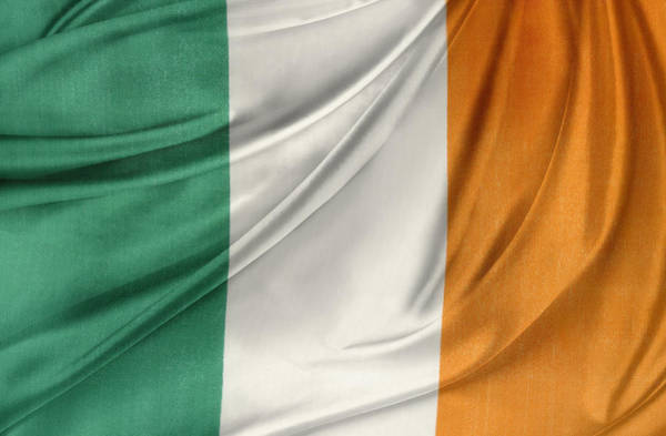 Official Photograph - Irish Flag by Les Cunliffe