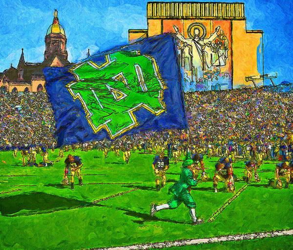 Wall Art - Painting - Irish Flag On Saturday by John Farr