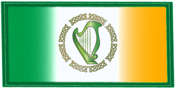 Wall Art - Digital Art - Irish Harp by Ireland Calling