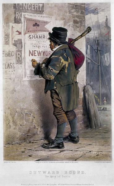 1854 Drawing - Irish Immigrant, 1854 by Granger