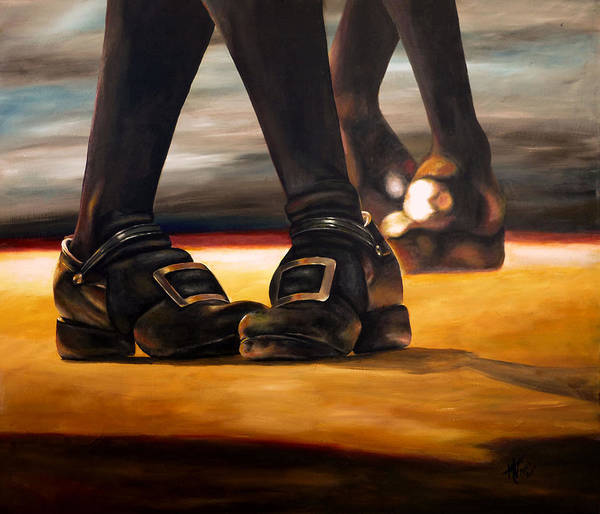 Irish Dance Painting - Irish Jig Dancing Feet by Michelle Iglesias