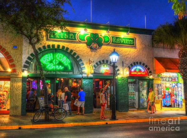 Street Scene Photograph - Irish Kevin's Bar by Debbi Granruth