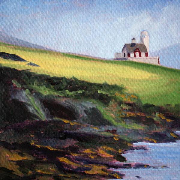Irish Painting - Irish Lighthouse by Nancy Merkle