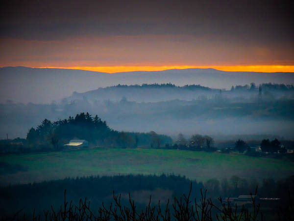 Photograph - Irish Mist Over County Clare Farm by James Truett