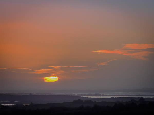 Photograph - Irish Sunrise Scattering Light Over Shannon River Valley by James Truett