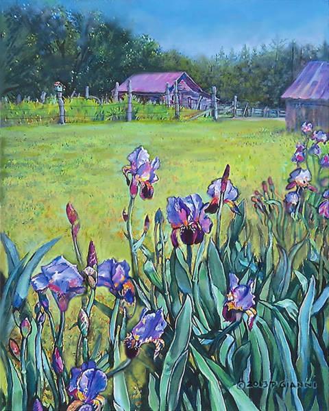 Back Door Painting - Iris's At Lexington by Philip Gianni
