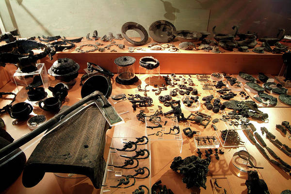 Saint Augustine Photograph - Iron Age Artefacts by Marco Ansaloni / Science Photo Library