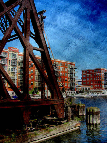 Photograph - Iron Bridge End W Metal by Anita Burgermeister