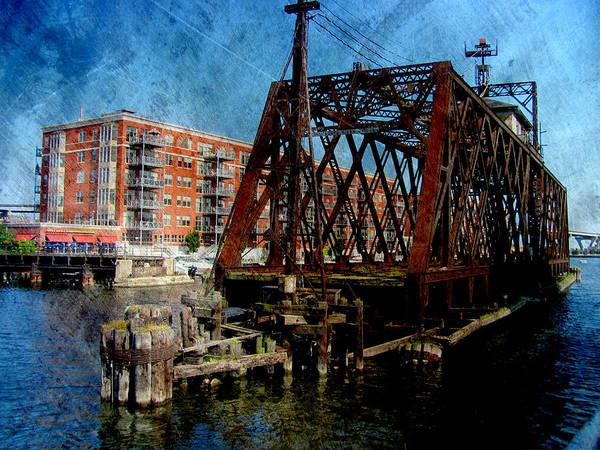 Digital Art - Iron Bridge Side W Metal by Anita Burgermeister