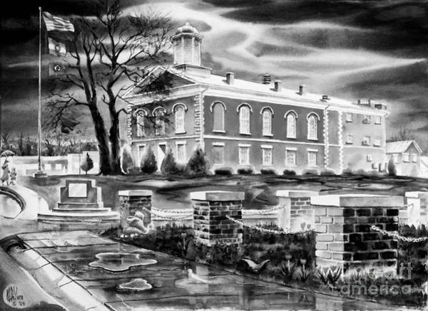 Painting - Iron County Courthouse IIi - Bw by Kip DeVore