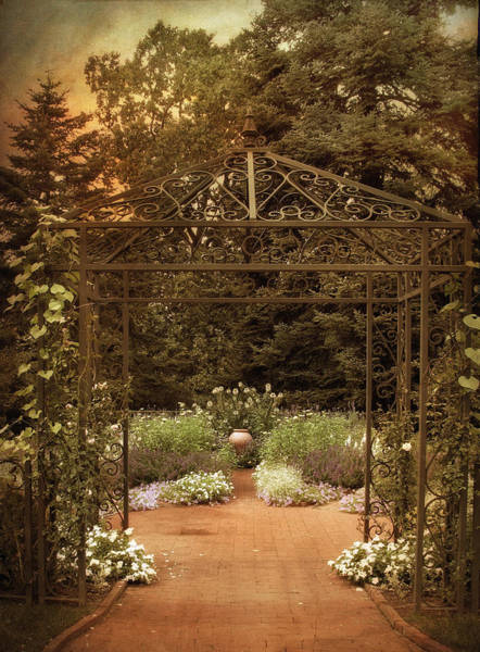 Formal Garden Photograph - Iron Entrance by Jessica Jenney