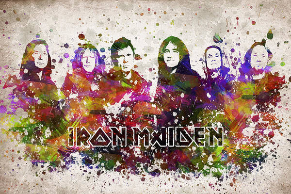 Maiden Wall Art - Digital Art - Iron Maiden In Color by Aged Pixel