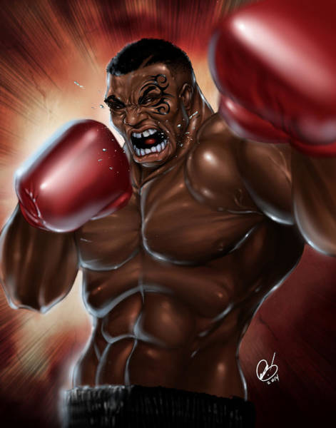 Painting - Iron Mike by Pete Tapang