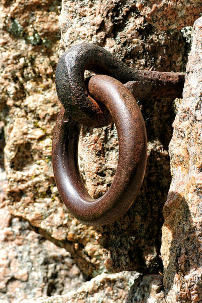 Photograph - Iron Rings In Stone by William Selander